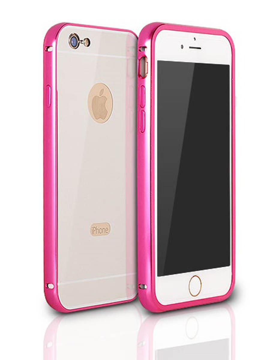 5d0234ea97 Aluminum Bumper   Back Mirror Cover - Pink   Silver (Samsung Galaxy S7)