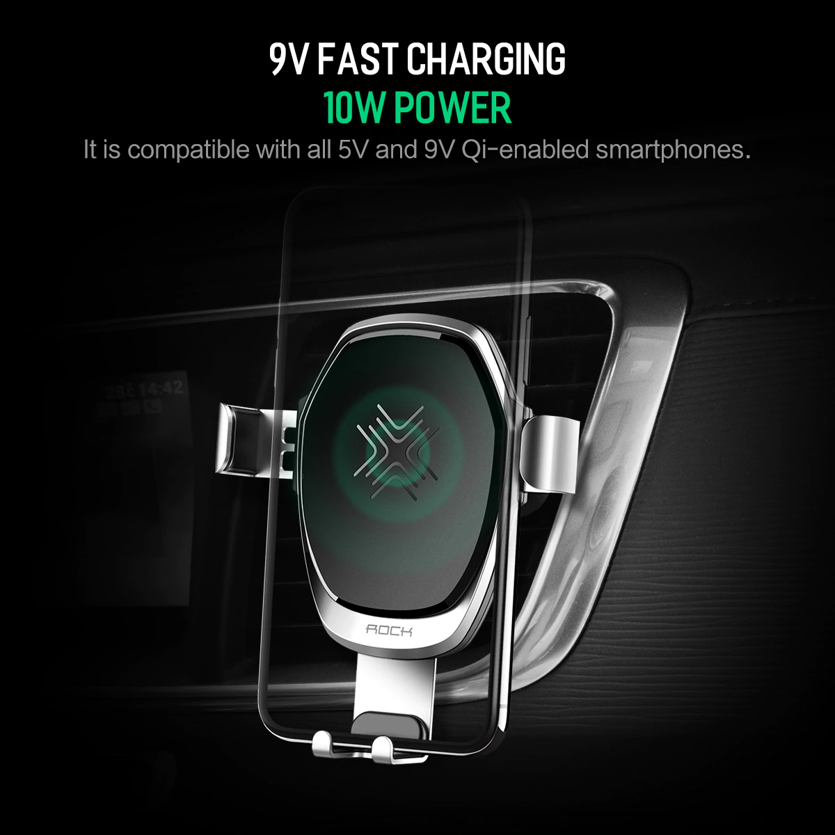 Rock Car Mount Wireless Charger 1